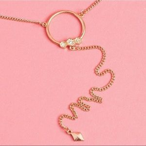 Luv AJ rose gold necklace